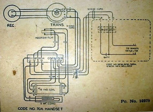 magneto telephones, leich 70a - wiring